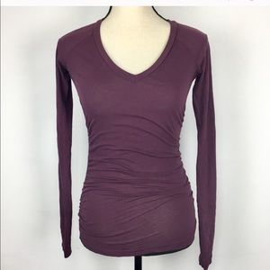 Standard James Perse ruched tee w/flaws